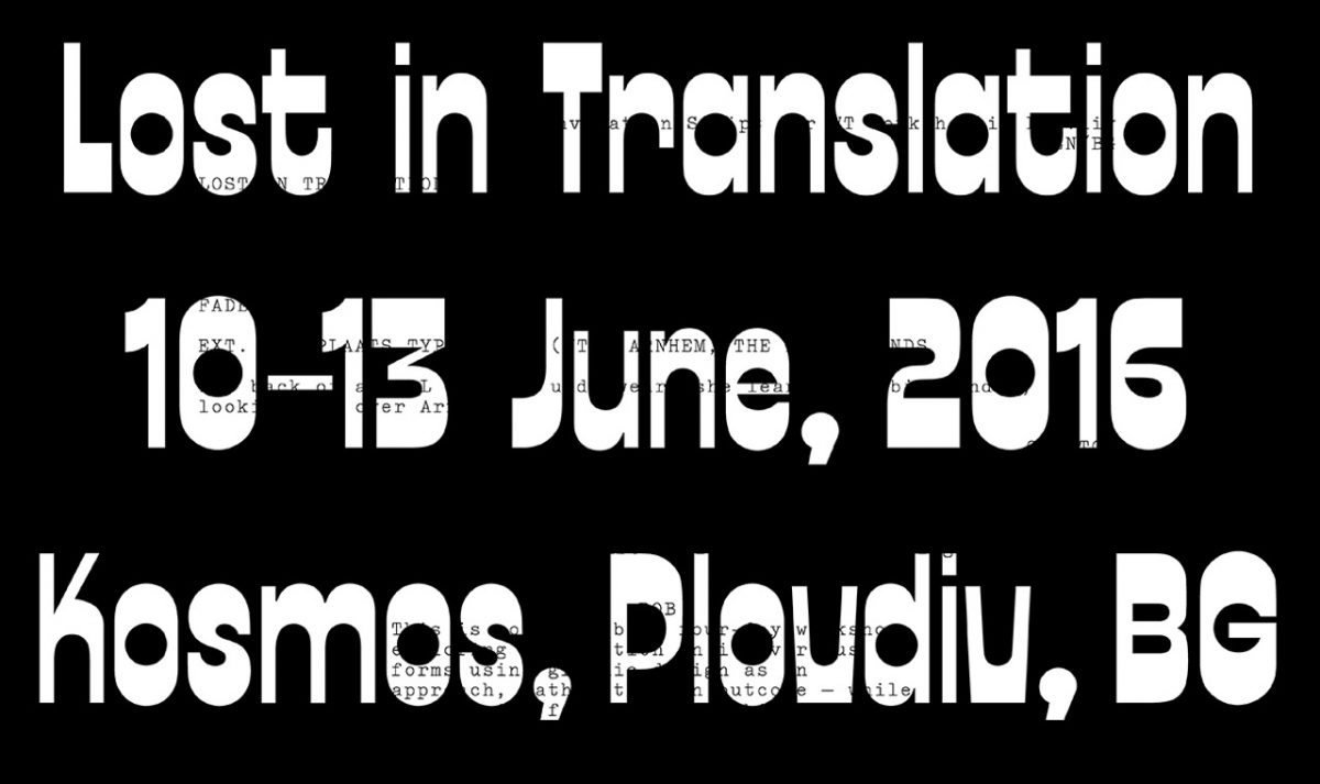 Programme one design week lost in translation workshop stopboris Choice Image
